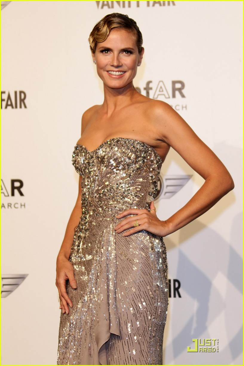 heidi klum amfar milano at milan fashion week 102483645