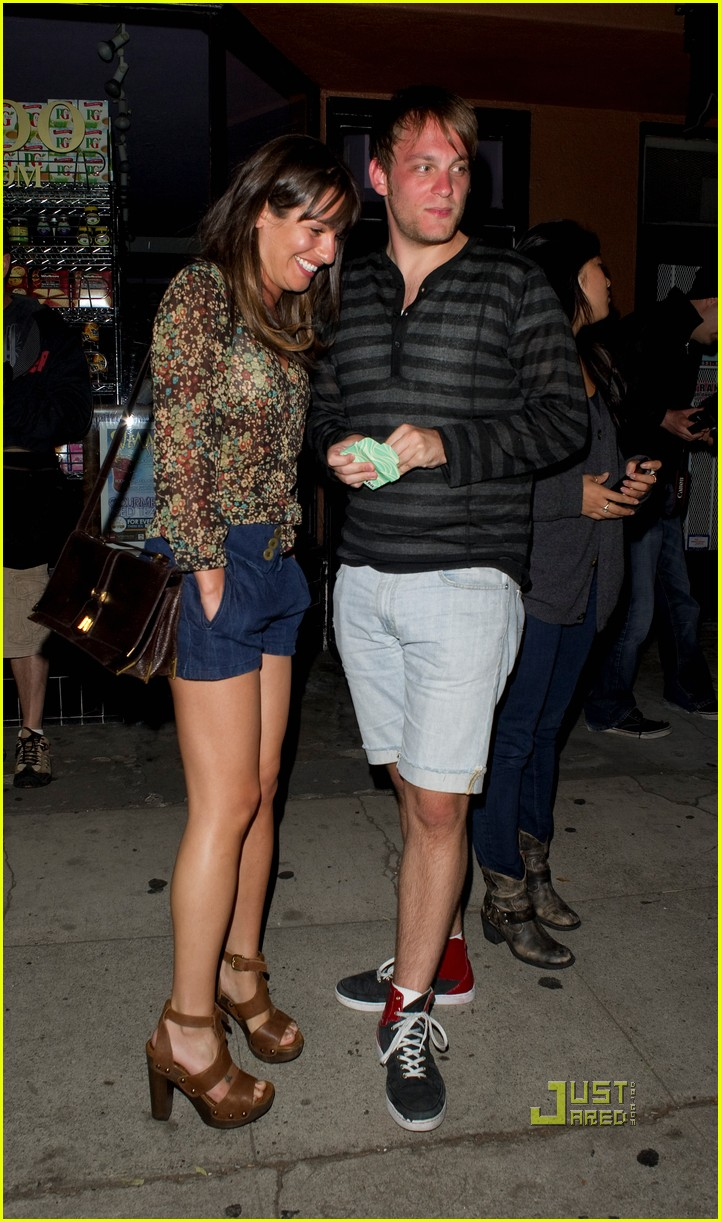 How long have lea michele and theo stockman been dating