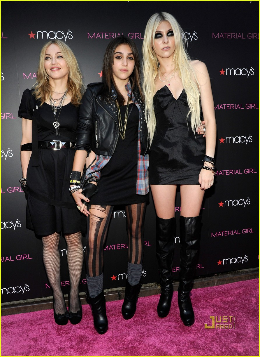 Madonna: 'Material Girl' Launch with Lourdes & Taylor ...