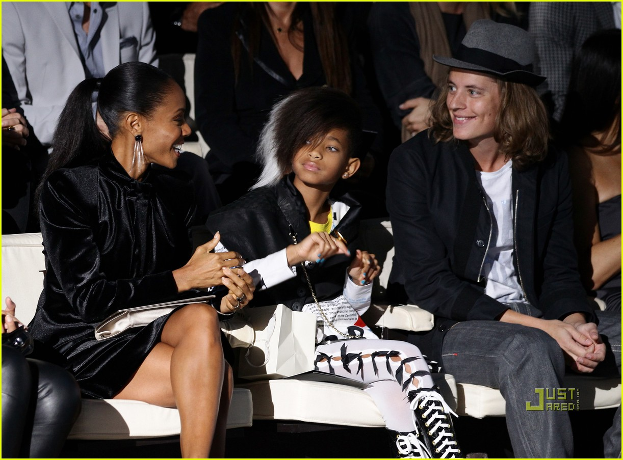 willow smith front row armani fashion show 132482675