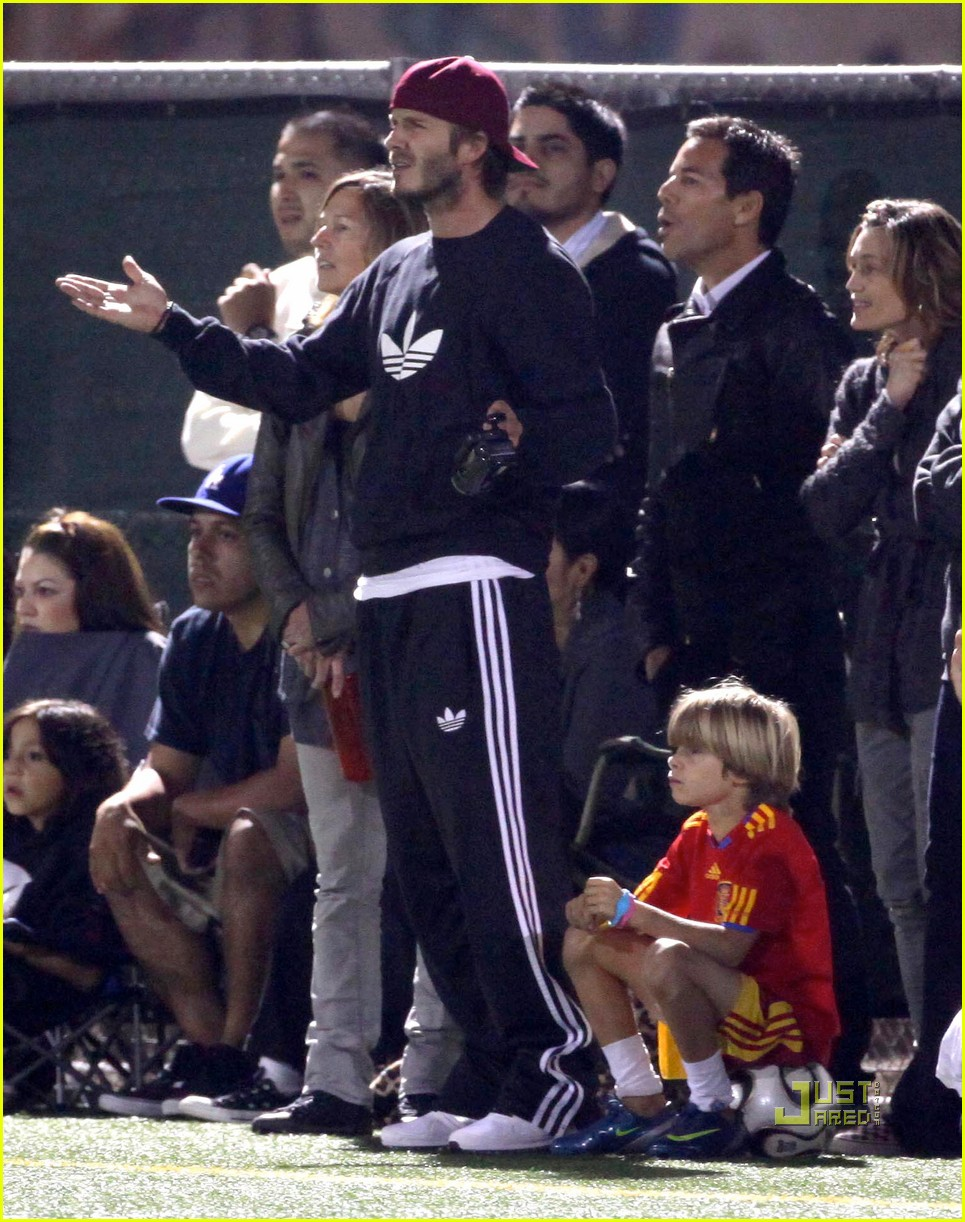 david beckham boys soccer game 132486241