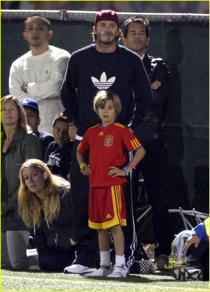 david beckham boys soccer game 142486242