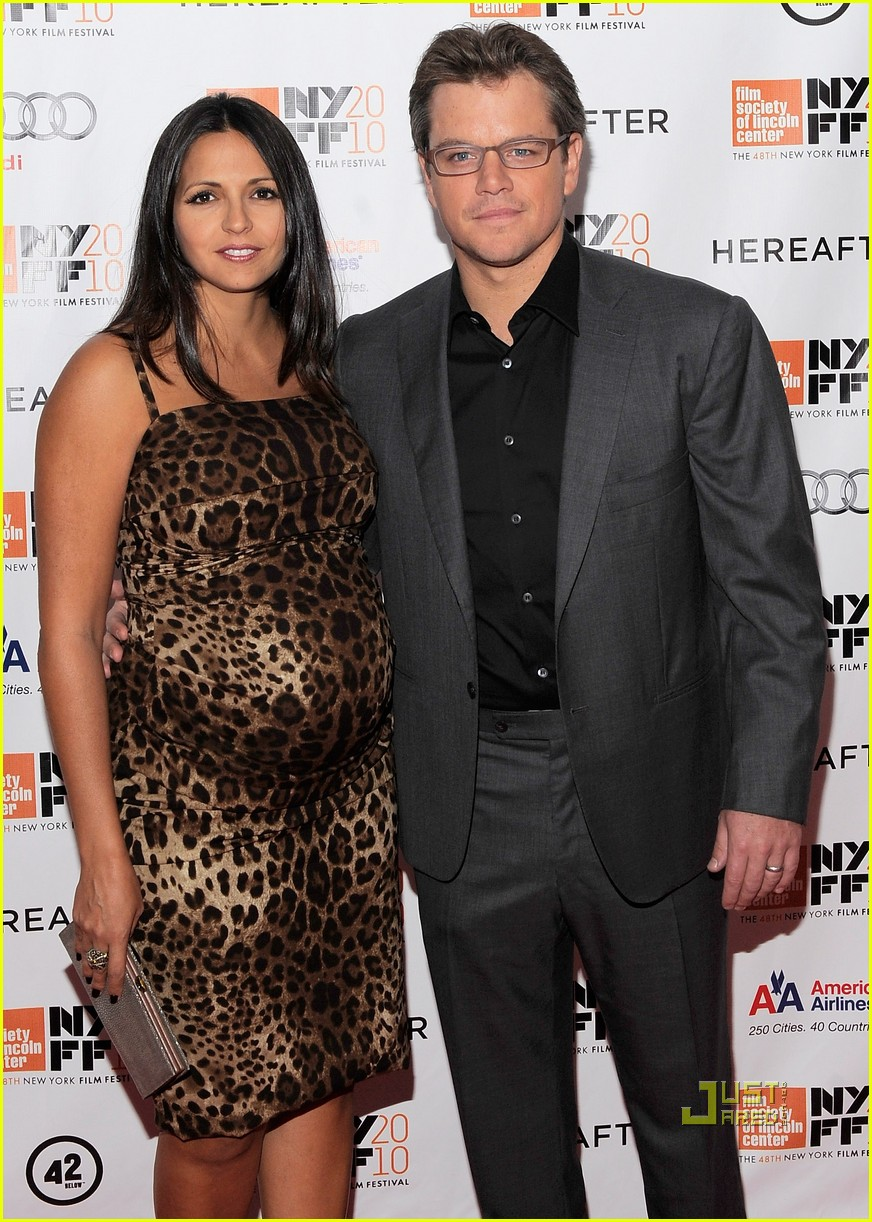 matt damon hereafter premiere with luciana 052486521
