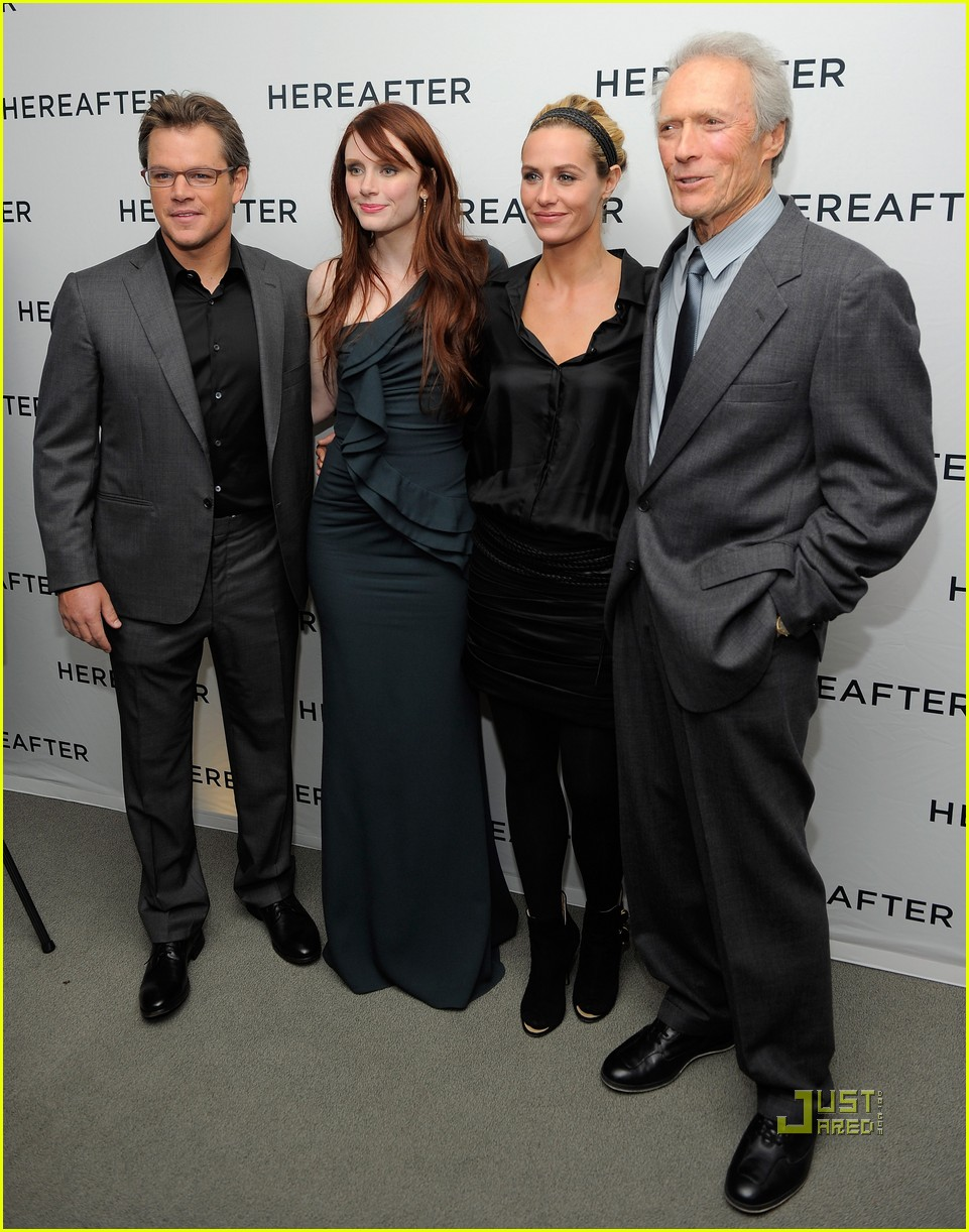matt damon hereafter premiere with luciana 072486523