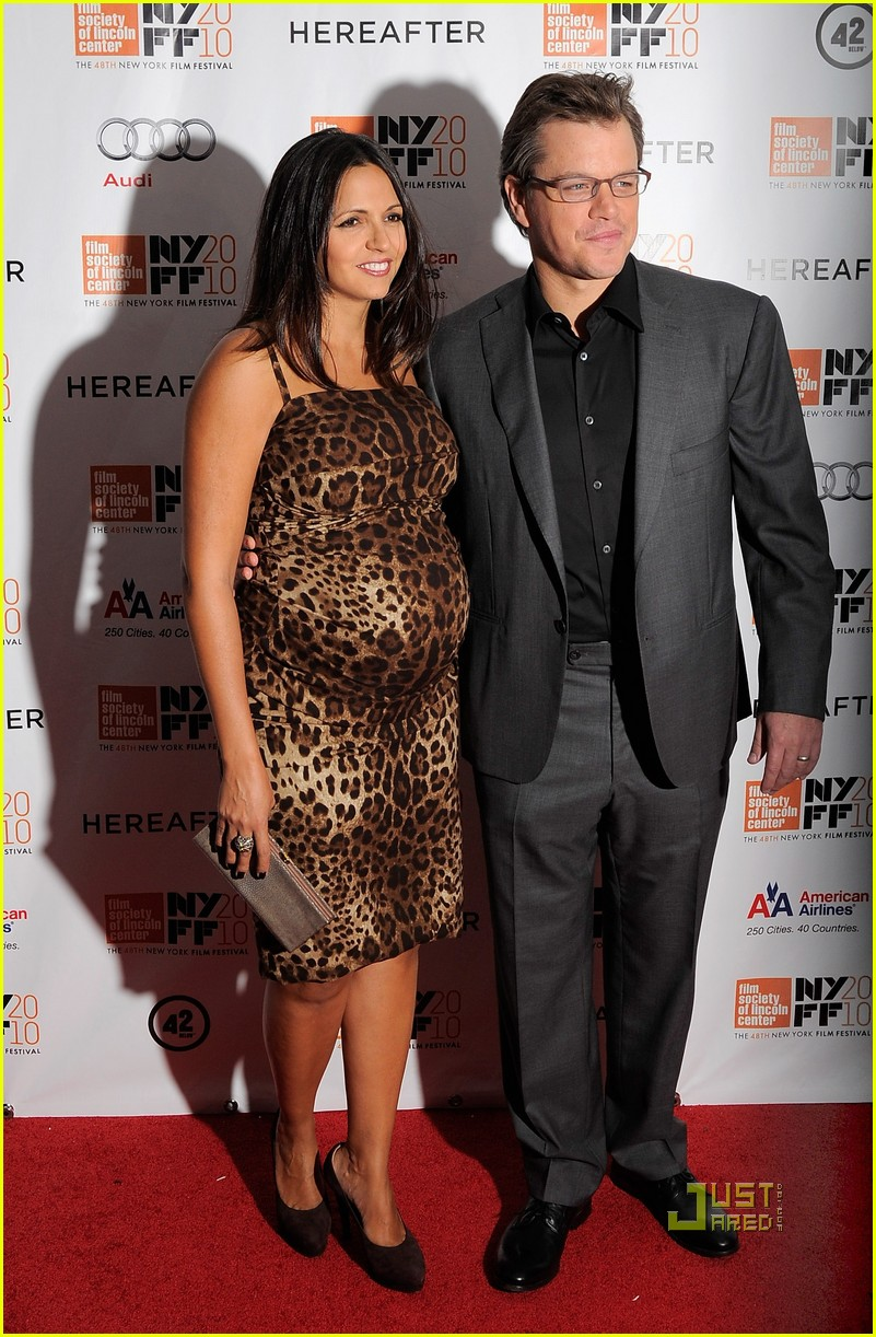 matt damon hereafter premiere with luciana 092486525