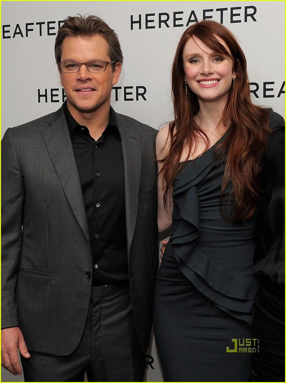 matt damon hereafter premiere with luciana 102486526