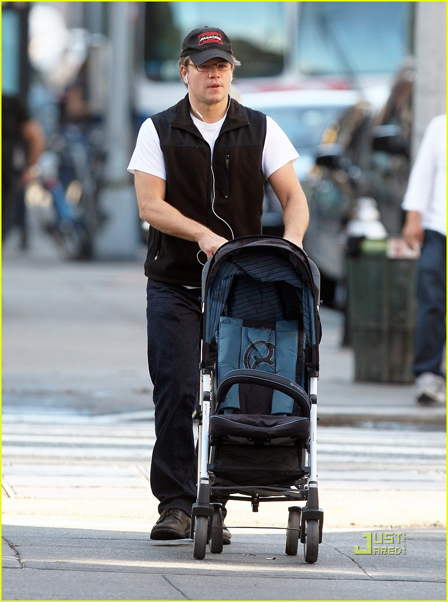 matt damon east village stroll with isabella 042491331