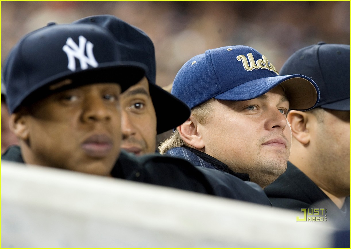 jay z leonardo dicaprio box seats yankees game 062488879