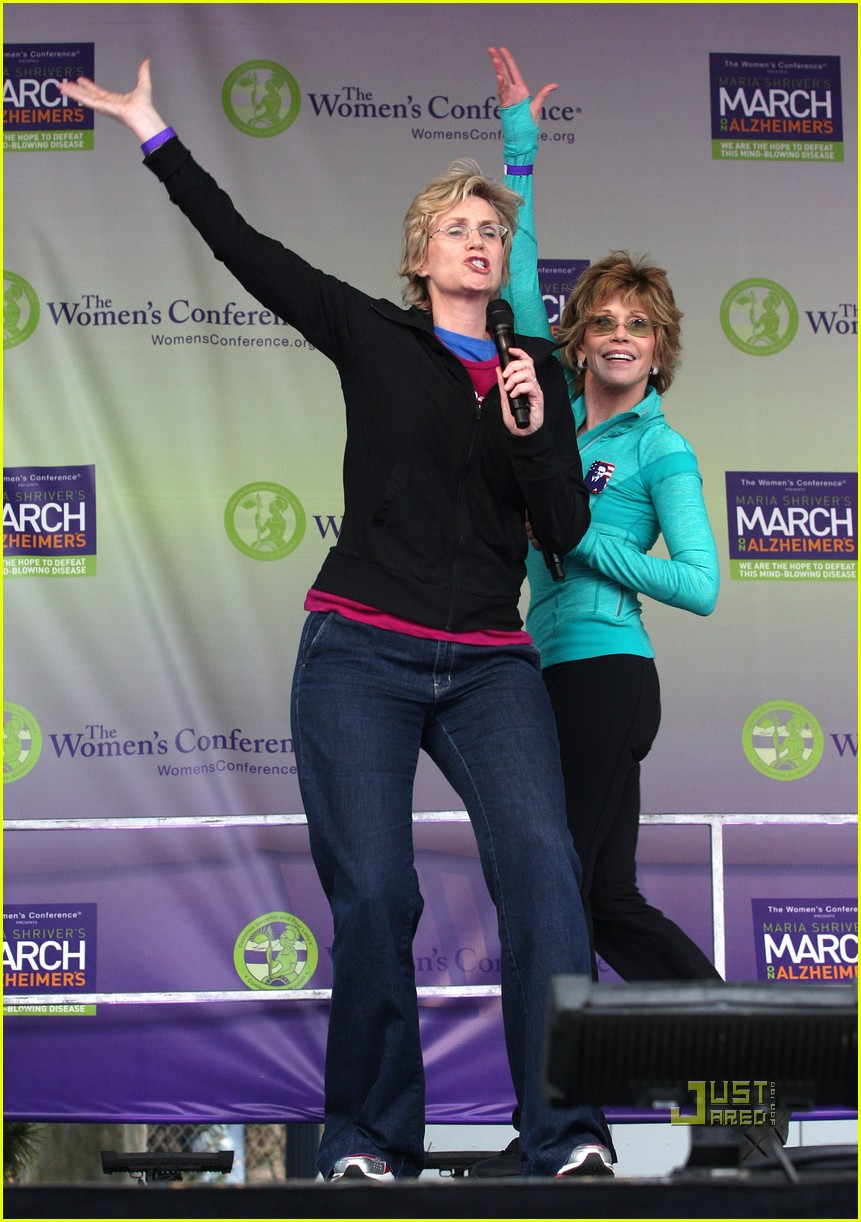 jane lynch gets physical with jane fonda 032490032