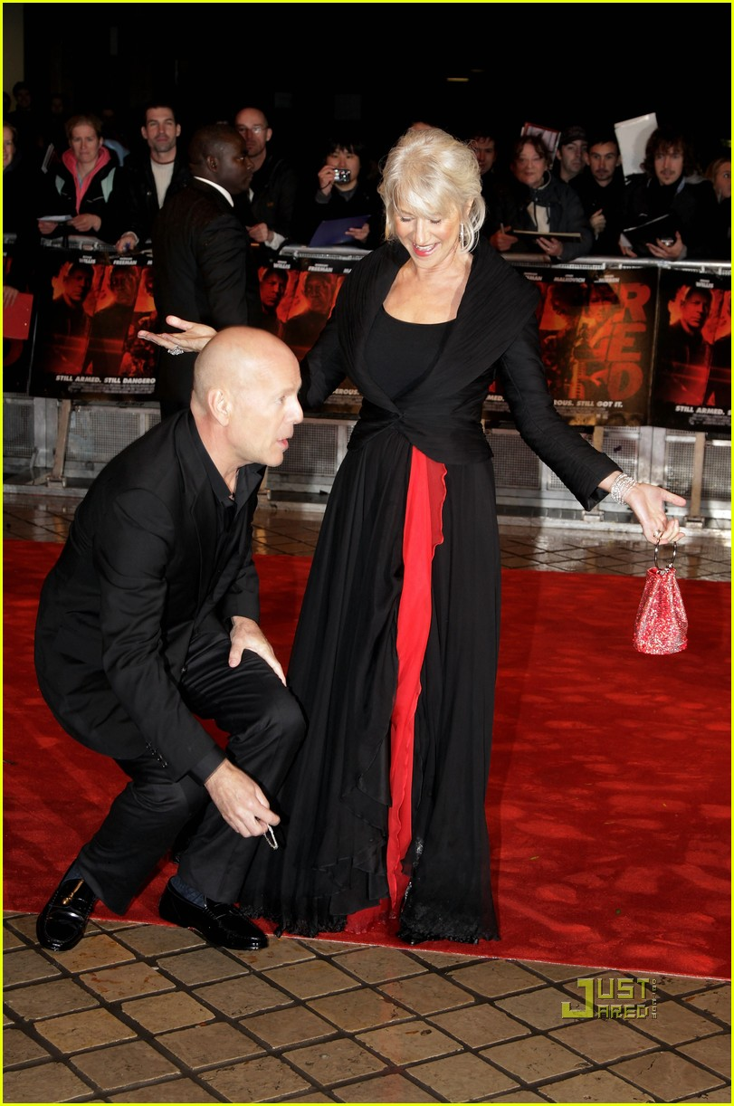 helen mirren bruce willis red uk film premiere 11