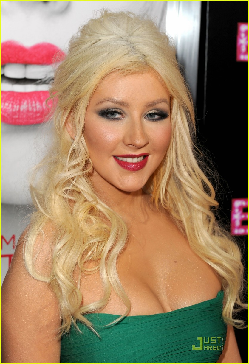 Christina Aguilera Burlesque Premiere With Cher Photo