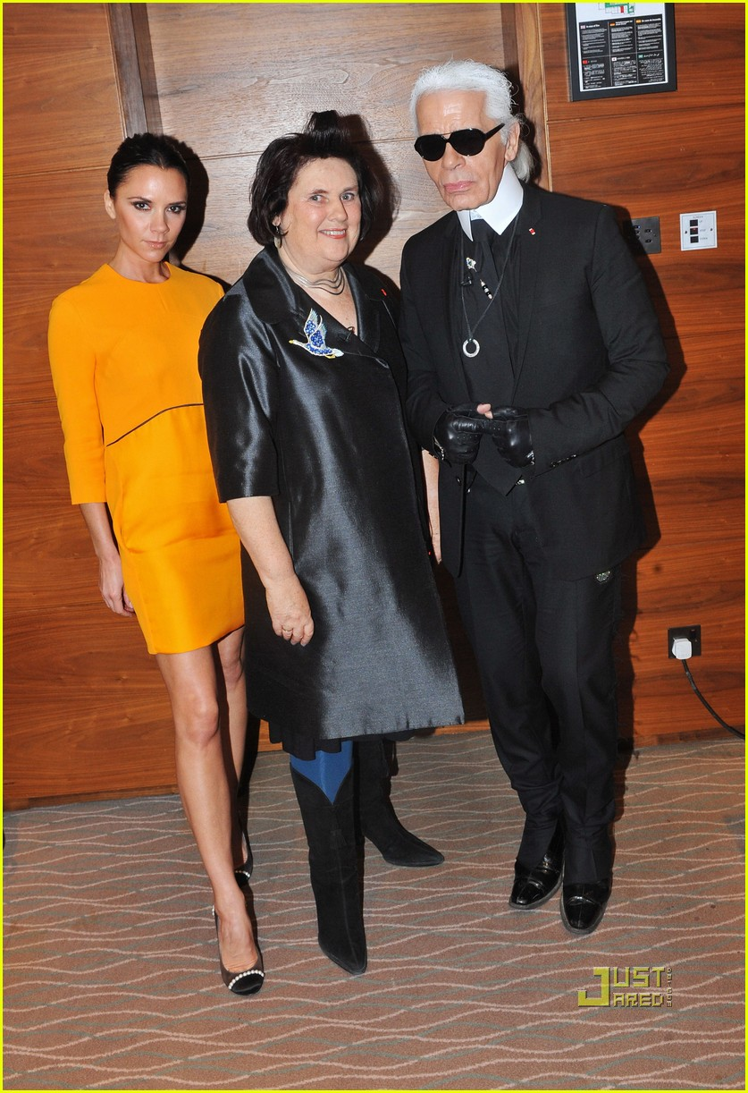 victoria beckham luxury lady with karl lagerfeld 042494325