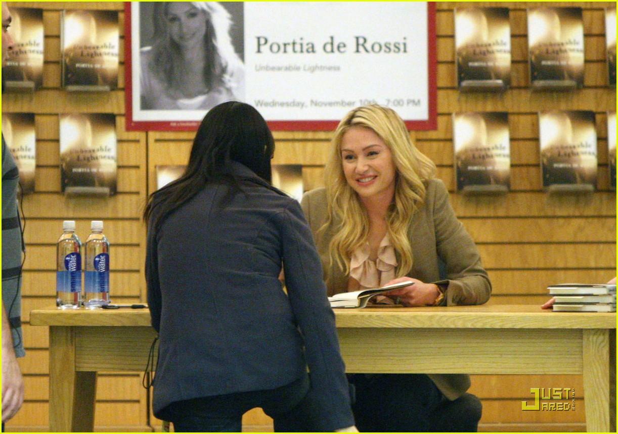 Portia De Rossi: U0027Unbearable Lightnessu0027 Signing