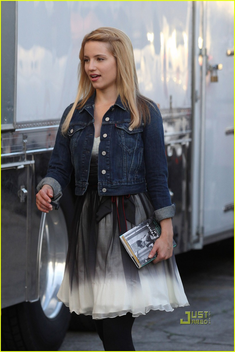 dianna agron lea michele little doms dinner with cast 042492963