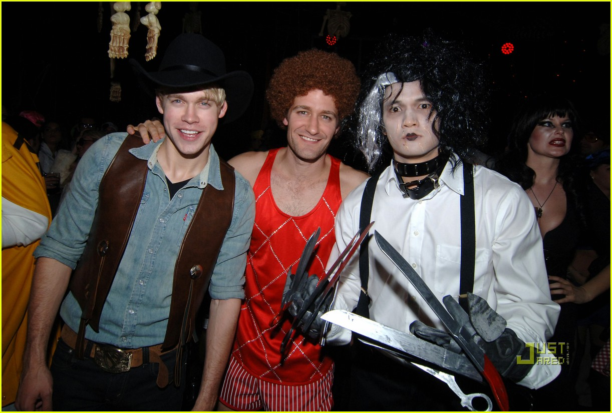matthew morrison birthday party christina aguilera glee guys 03