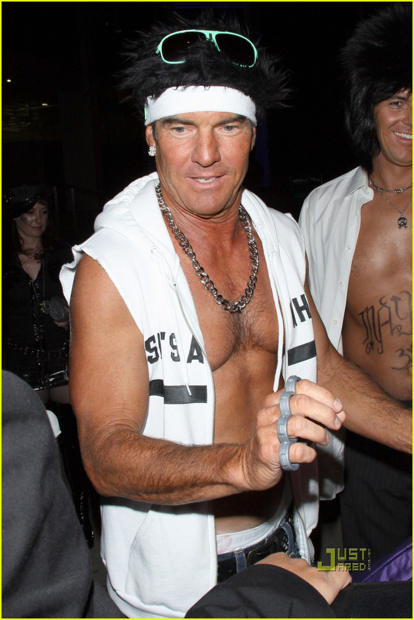 dennis quaid shirtless jersey shore guido for halloween 102491922