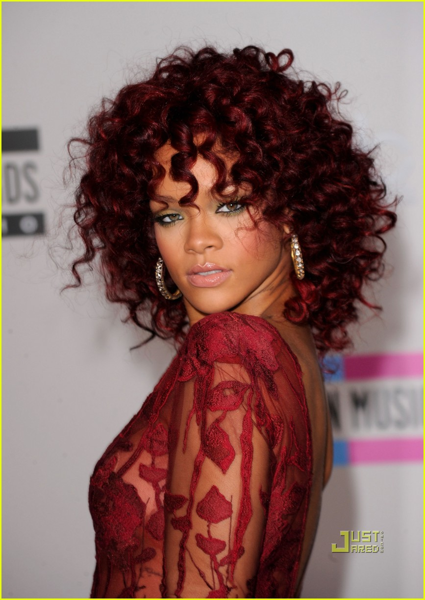Dark Red Hair Color for Black Women