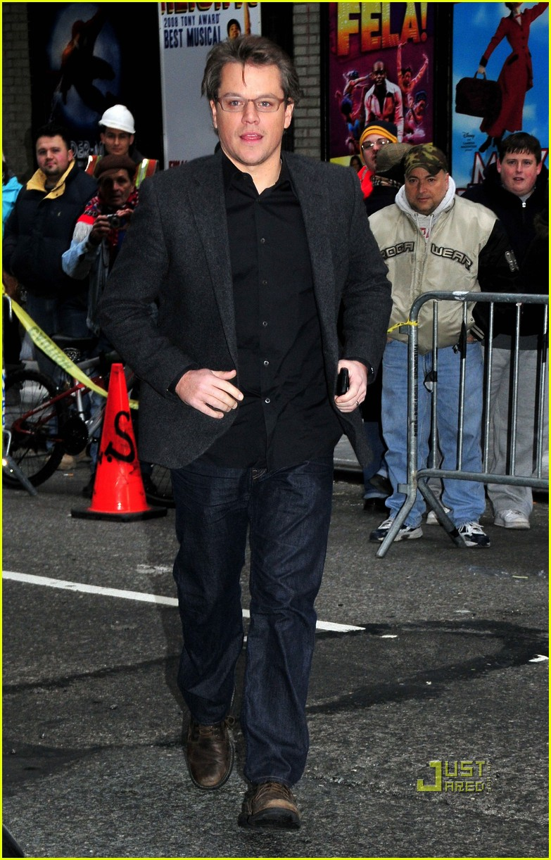 matt damon late show letterman 032504495