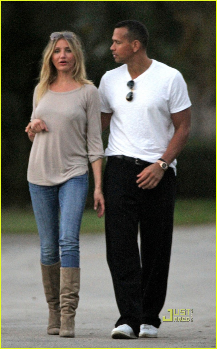 cameron diaz alex rodriguez touchy feely miami 092503311