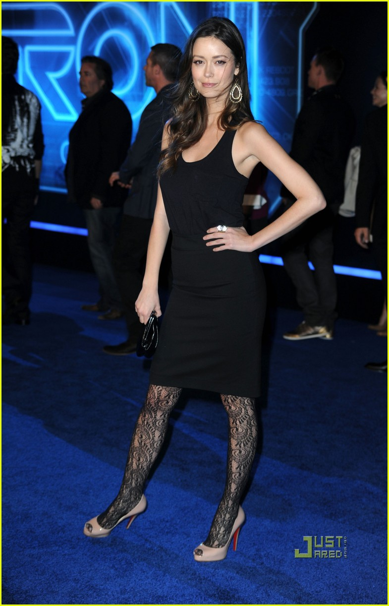 beau garrett & summer glau: 'tron' premiere pair!: photo 2503056