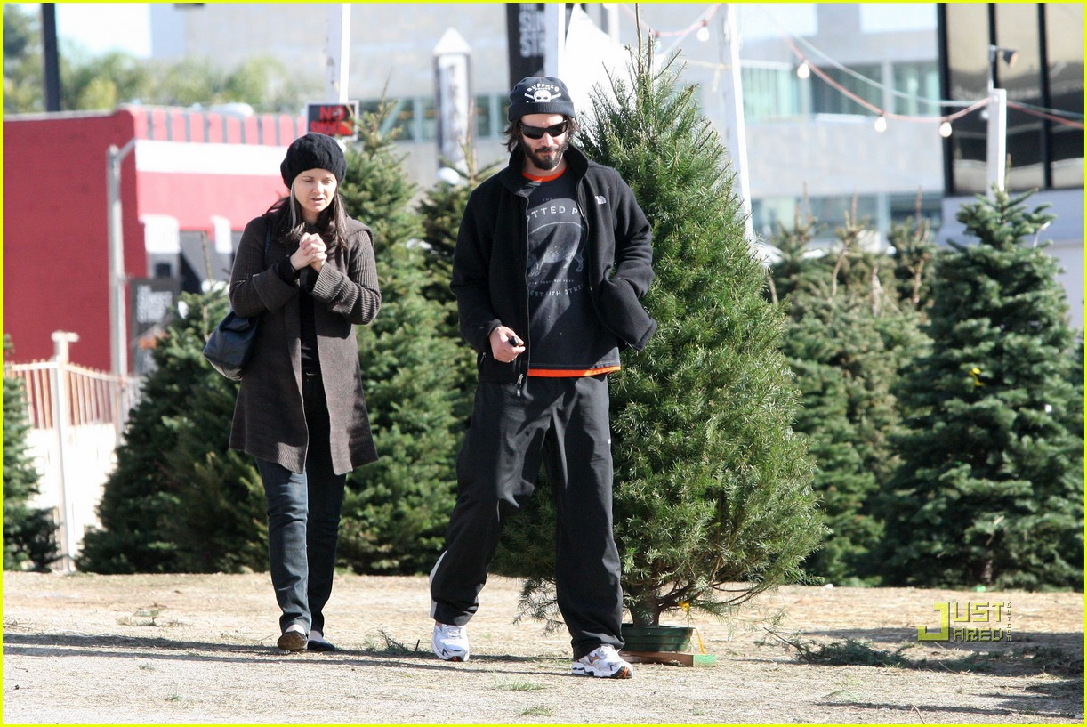 keanu reeves christmas tree shopping 112506380