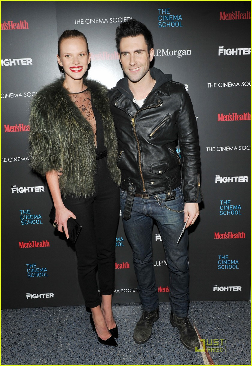 Adam Levine & Anne Vyalitsyna: 'The Fighter' Premiere Pair ... Adam Levine And Anne Vyalitsyna Misery