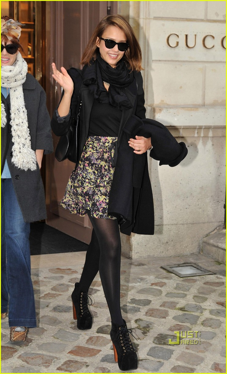 jessica alba gucci boutique paris 042514225