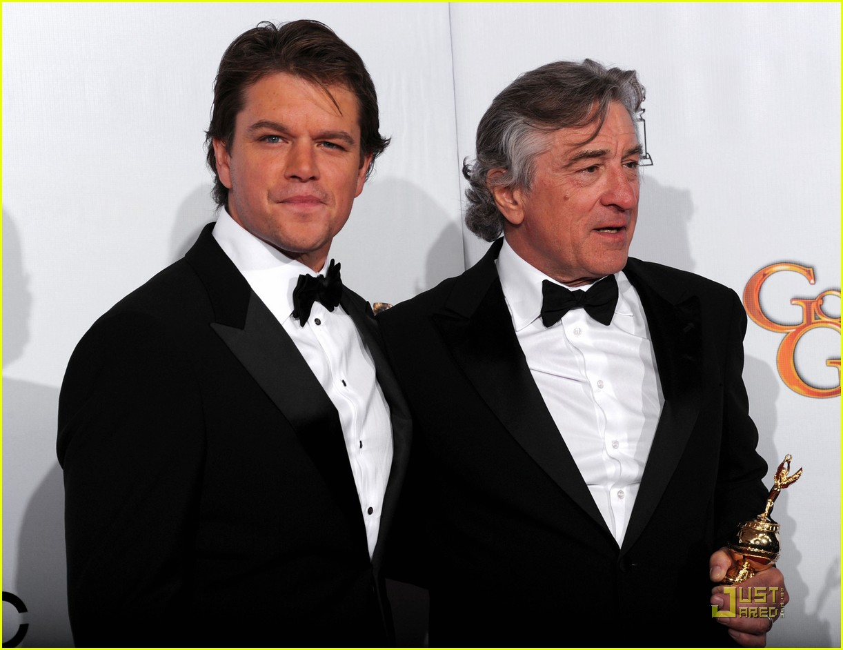 matt damon robert de niro golden globes 01
