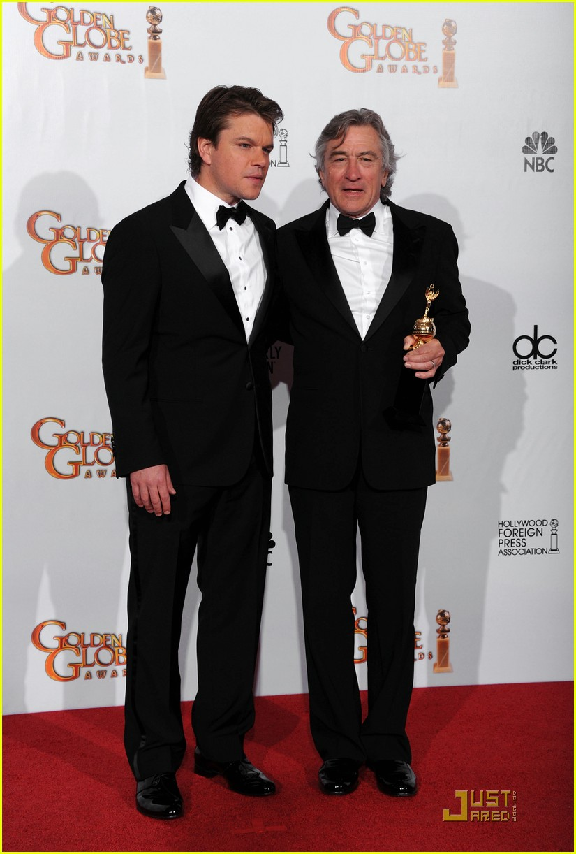 matt damon robert de niro golden globes 02