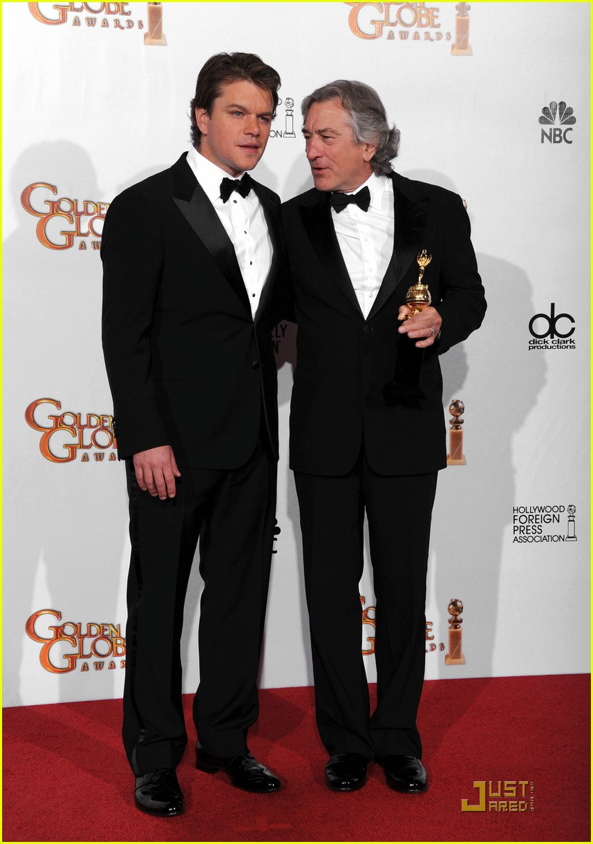 matt damon robert de niro golden globes 08