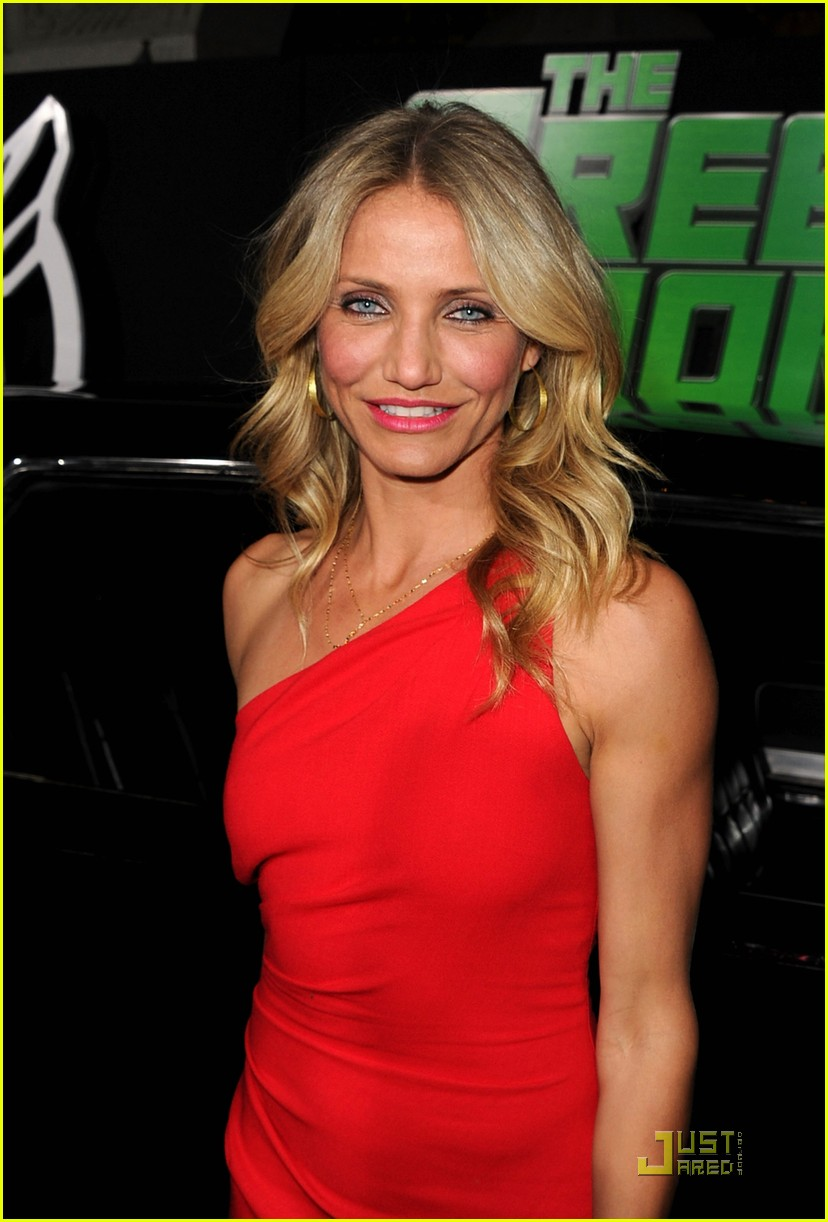 Cameron Diaz Green Hornet Premiere with Seth Rogen Photo
