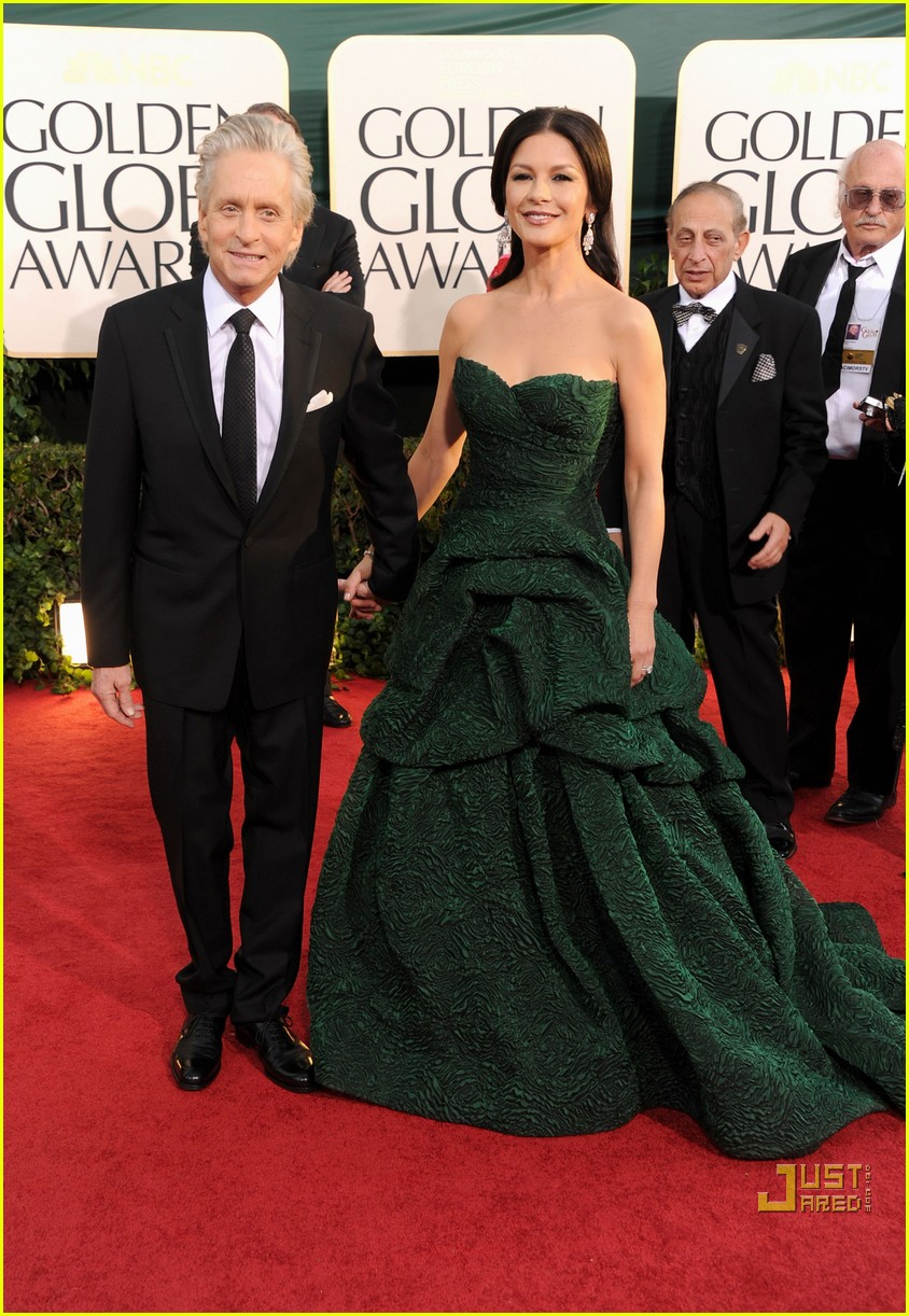 michael douglas catherine zeta jones golden globes 2011 012512257