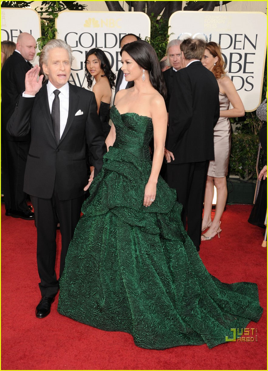 michael douglas catherine zeta jones golden globes 2011 13