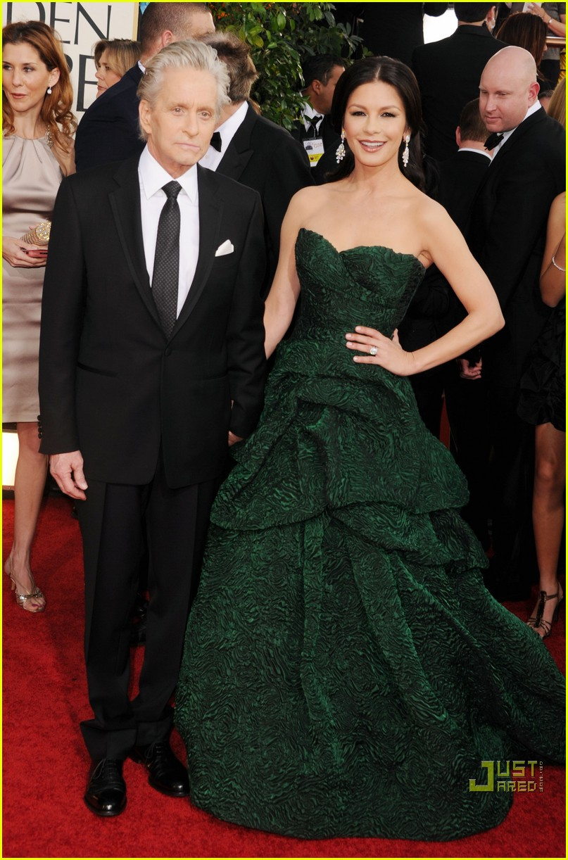 michael douglas catherine zeta jones golden globes 2011 14