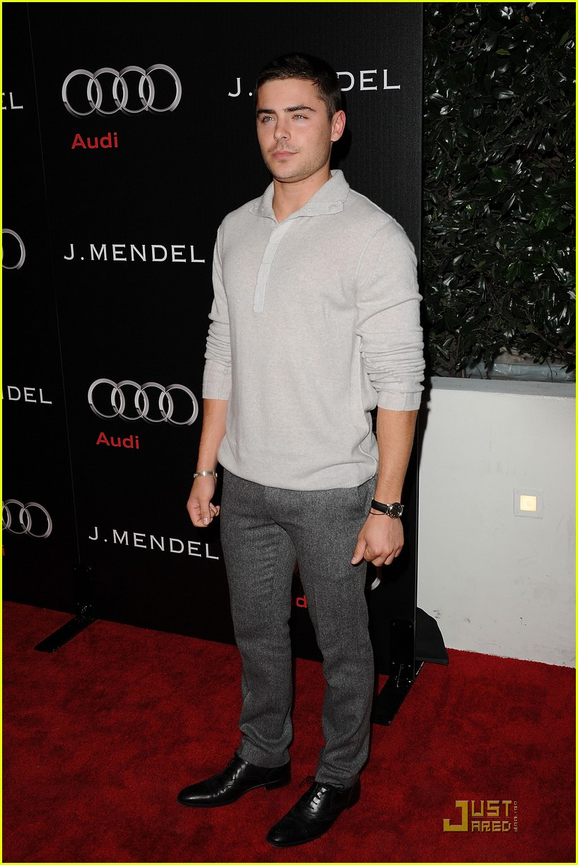 zac efron brittany snow audi golden globe party 022509655