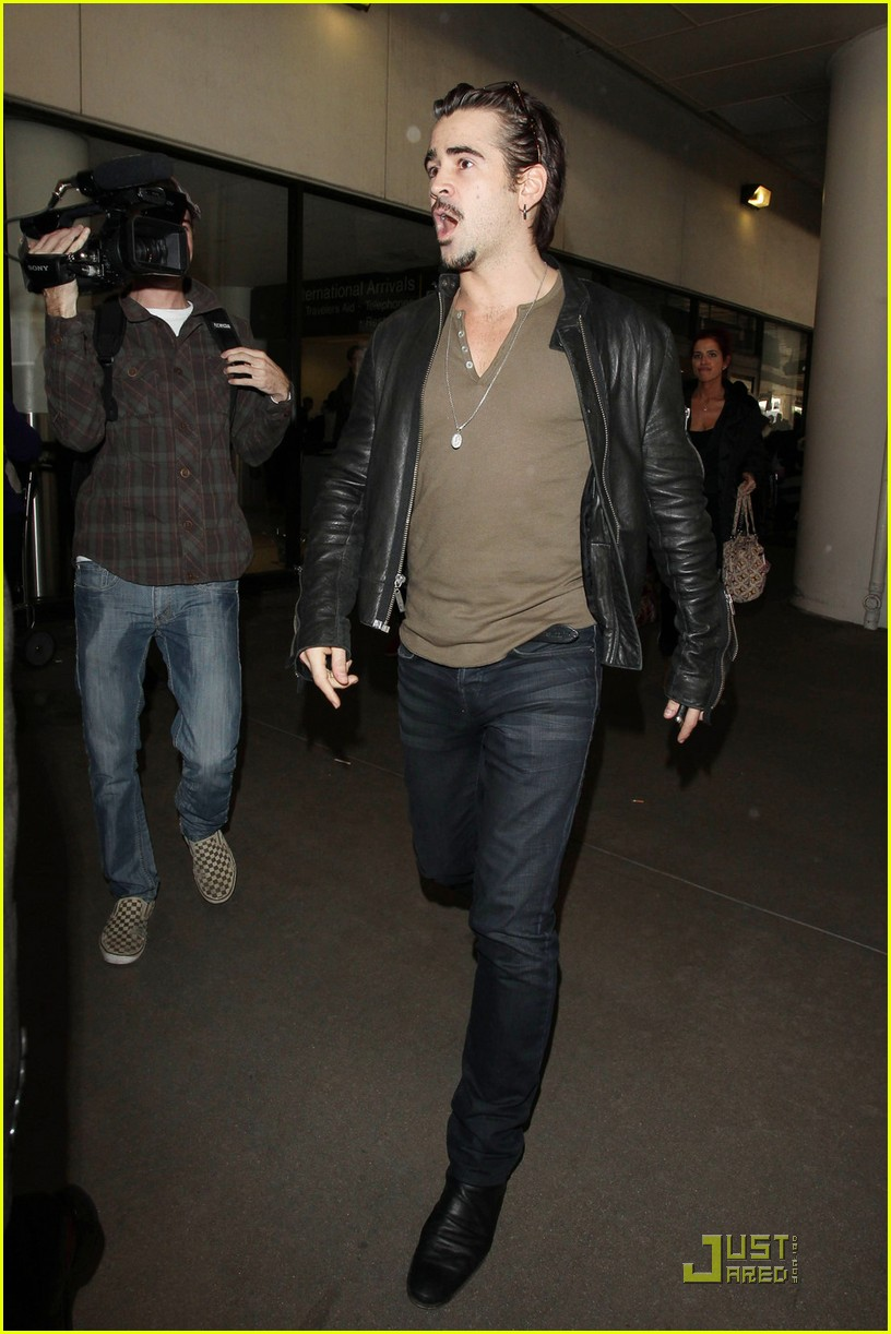 colin farrell arriving in los angeles 102509045