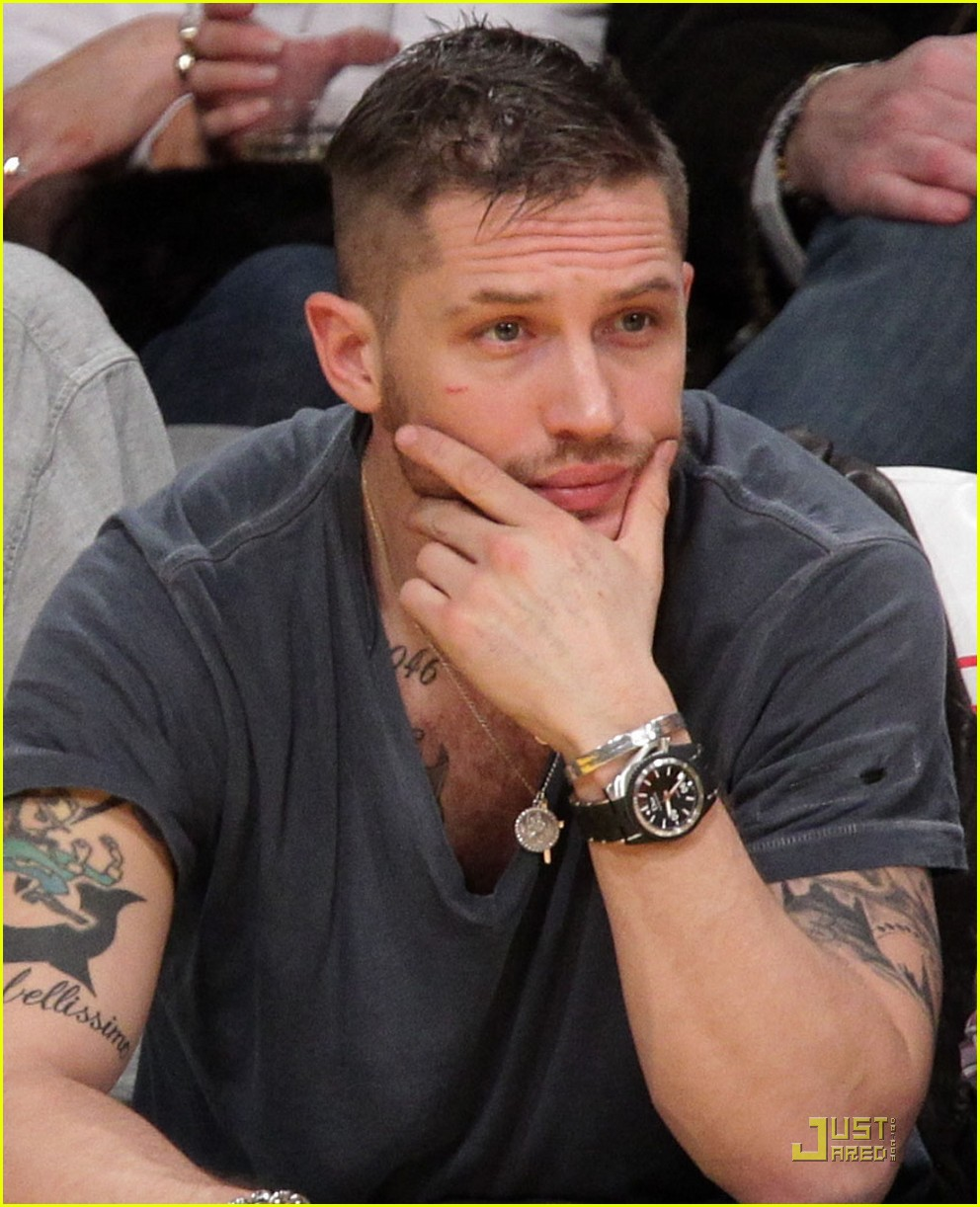 tom hardy lakers laughter 04
