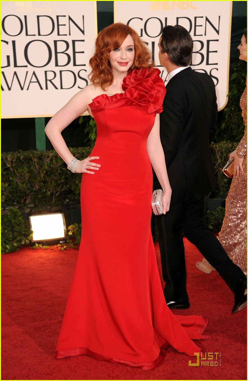 christina hendricks golden globes 01