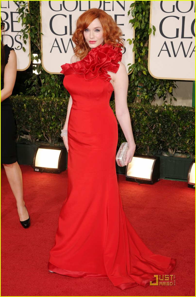 christina hendricks golden globes 09