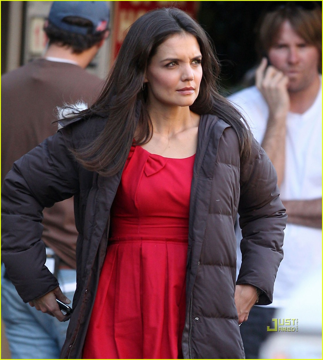 katie holmes red dress jack jill 022513213