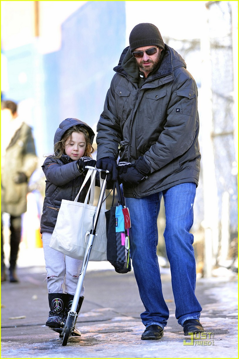 hugh jackman after school fun with ava 052514260