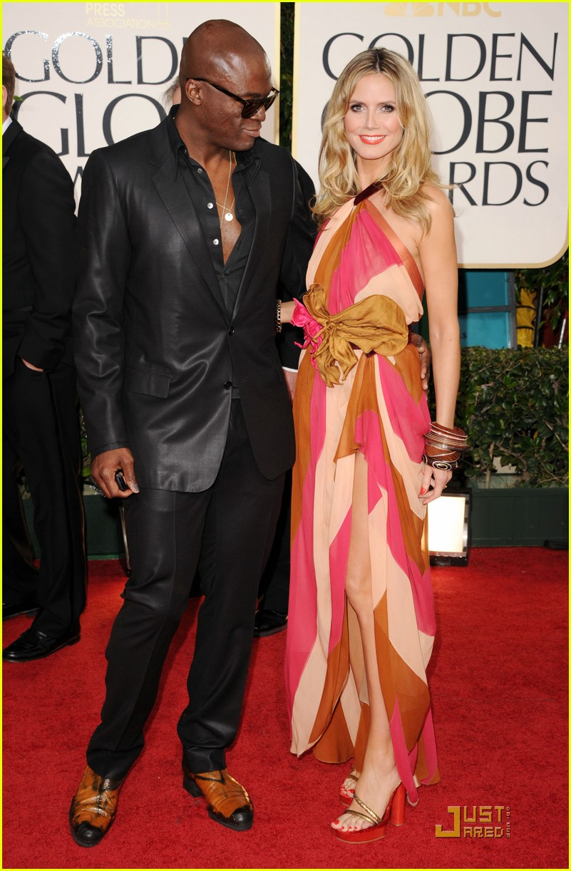 heidi klum seal golden globes 09