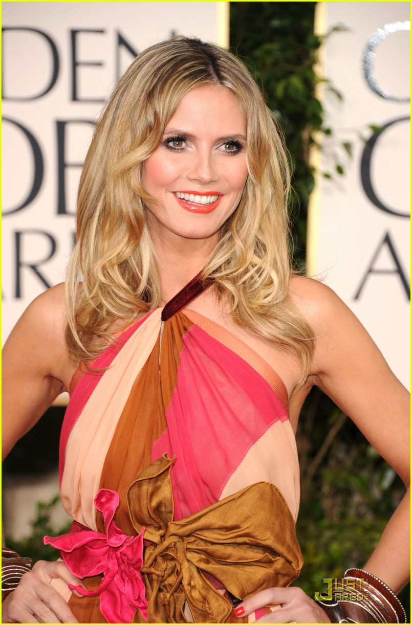 heidi klum seal golden globes 12