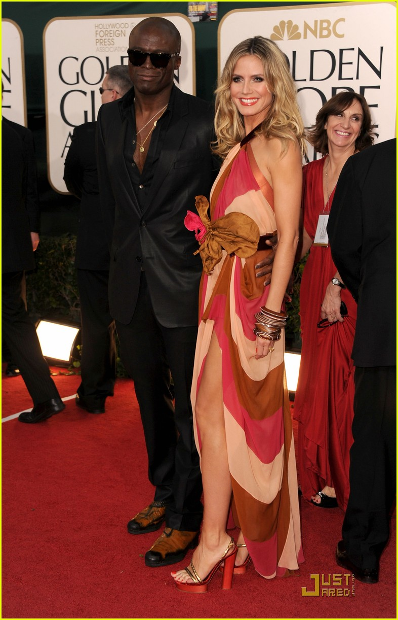 heidi klum seal golden globes 22