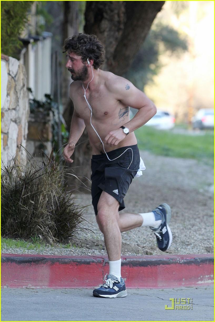 shia labeouf shirtless run 142512787