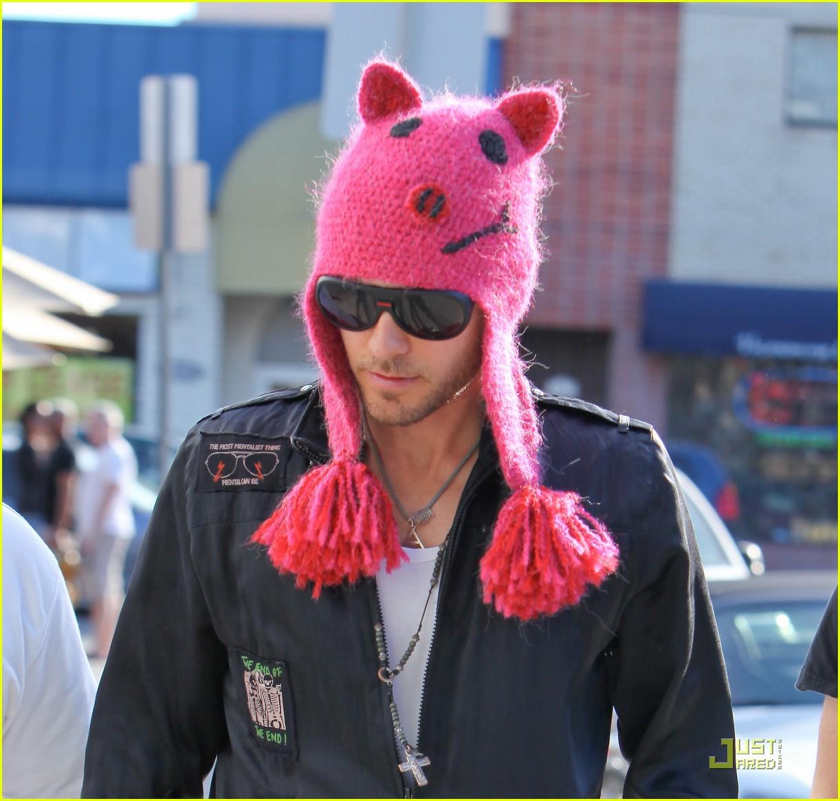 jared leto pink pig beanie toast 072512756