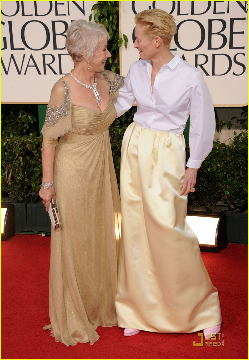 helen mirren tilda swinton golden globes 032512323