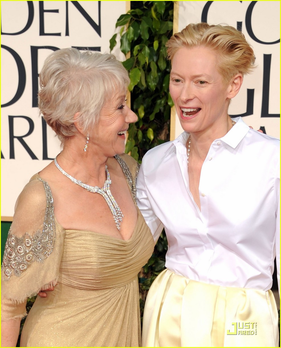 helen mirren tilda swinton golden globes 072512327