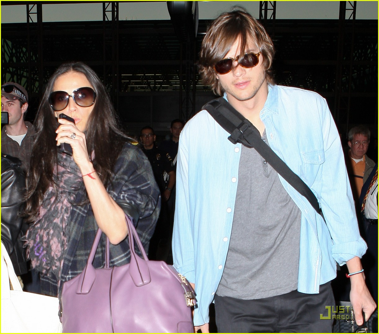 demi moore ashton kutcher en route to brazil 132514565