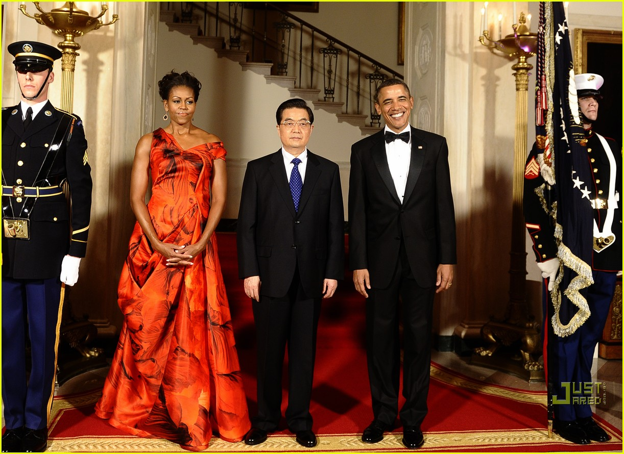 michelle obama china red 102513187